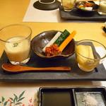 炭匠 満 - さつま芋のスープ(左端)