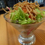 くげ庵 - おたのしみランチ:揚げそばのサラダ