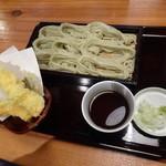 くげ庵 - おたのしみランチ:天ぷら盛り合わせとへぎそば(中盛り)