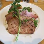 足柄の森レストラン - ヨーグル豚ハムのわら焼き
