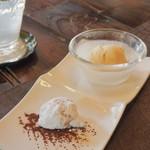 パペルブルグ - キャラメルのアイス & オレンジピールのスノーーフレーク