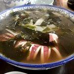 47712435 - (寿都)浜ちゃんぽん;スープはあっさり.若布の存在感が凄い(^^;) @2016/02/21