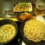 47714959 - つけ麺、唐揚げ、餃子