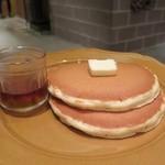 食堂カフェ potto - パンケーキ(発酵バターと純度100%メープルシロップ)