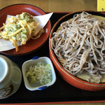 そば処 二城 - もり蕎麦\700 + かき揚げ\80