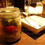 インダストリアル肉バル 夜カフェ DOWNTOWN BEER87 - BLTメイソンジャーサラダ