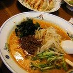テンホウ - 冷やしタンタンメン520円、餃子(6個)260円