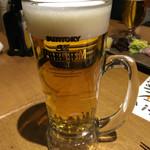 なかめのてっぺん - 生ビール