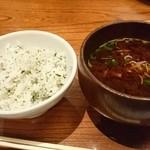かつ吉 新丸ビル店 - ご飯+赤だし