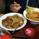 一家 - 台湾味噌ラーメンと牛肉飯セット