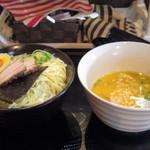 かみあり製麺 - 2016年2月 海老そば塩つけ麺大ひやもり(850円)