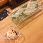 都寿司 - カワハギ 肝和え