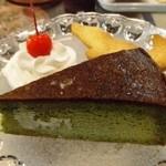 横浜亜熱帯茶館 - 抹茶のガトーショコラ