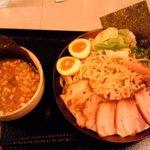 つけ麺 桜みち - 全部のせ つけ麺(携帯で撮影)
