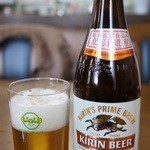 レストハウスかしわ - ビールは一番搾り(550円)