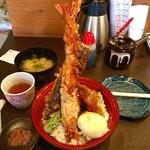 47750527 - 大海老天丼ご飯大盛り