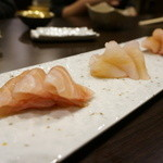 心粋厨房 獬 - 刺盛り(天然カンパチ・クエ・白甘鯛)