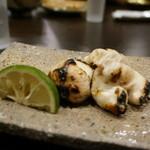 心粋厨房 獬 - トラフグの白子塩焼き