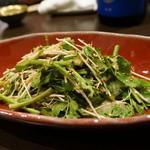 心粋厨房 獬 - 三関産セリのごまだれサラダ