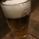 三ッ寺バル SHARE - 生ビール 500円