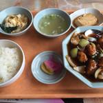 宝山閣 - 料理写真:酢豚定食=780円