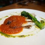 オステリア ムーリベッキ - 料理長のスペシャルプレート・・当日の魚はカジキ。