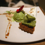 神楽坂 茶寮 - 「小豆とわらびもちのタルト」