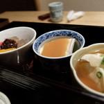 ちどり - すくい豆富・酢味噌・デザート