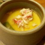 47761574 - 【椀 代】紅ずわい入り茶碗蒸し様、らかな味わいで茶碗蒸し好きとしては嬉しくなりますね~