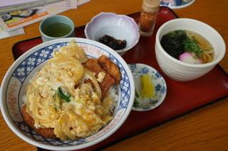鹿野川荘レストラン - カツ丼セット