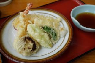 鹿野川荘レストラン - 天麩羅盛り合わせ