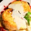 フレンチトーストブルーベリー手作りチーズソースかけ