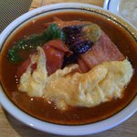 Kitarou - ベーコンエッグ野菜カレー(スープ大盛り)