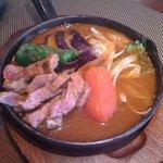 木多郎 - ラムステーキカレー(スープ大盛り)