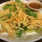 幕張ファイデーン - ソムタム(青パパイヤのサラダ)のかき揚げサラダ