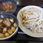真打 - Wつけ汁_並(900円)_肉汁とカレー汁_2016-02-21