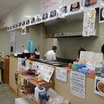 氷上パーキングエリア 軽食コーナー - カウンター