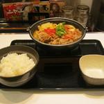 吉野家 - 2015年冬限定「トマト牛鍋膳」です。