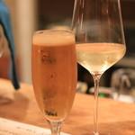 リガット - まずは、生とグラスワインで乾杯(^^♪