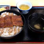 かいだ屋 - うなぎ丼並 半本入り1350円