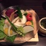 舞鶴小野 - お通し 糸島野菜