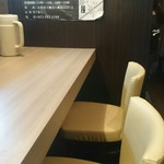 三麺流 武者麺 - カウンター席
