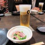 関 - 生ビール&お通し2016.02.22