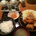 47794657 - 鶏の唐揚げ明太風味定食