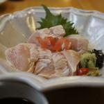八沢川 - 鶏わさ