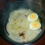冨屋 - スープ餃子(煮卵追加)