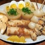 串天ぷら 段々屋 - しじみおでん盛合せ