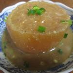 荻の源蔵そば - 大根煮200円。