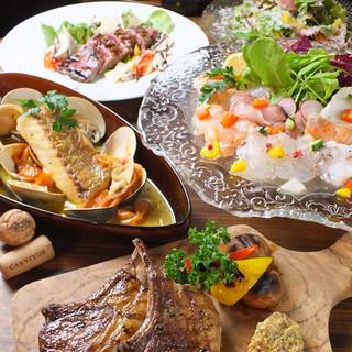 イタリアン×肉コースは2時間飲放付3800円~