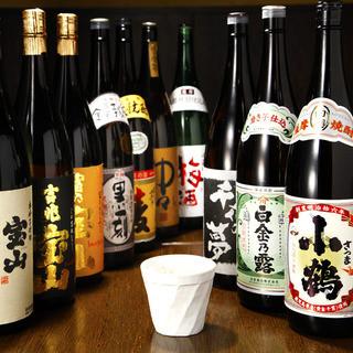 自慢の九州料理に合わせたい焼酎他多数取り揃え
